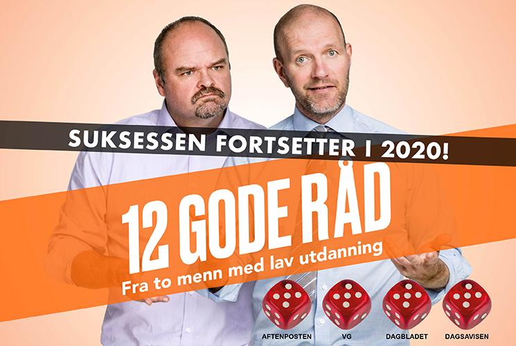 Atle Antonsen og Bård Tufte Johansen – 12 GODE RÅD *Fra to menn med lav utdanning